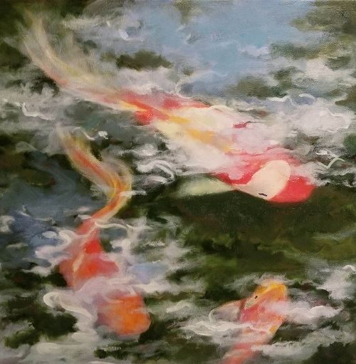 Colorful Koi by Phyllis Thornton