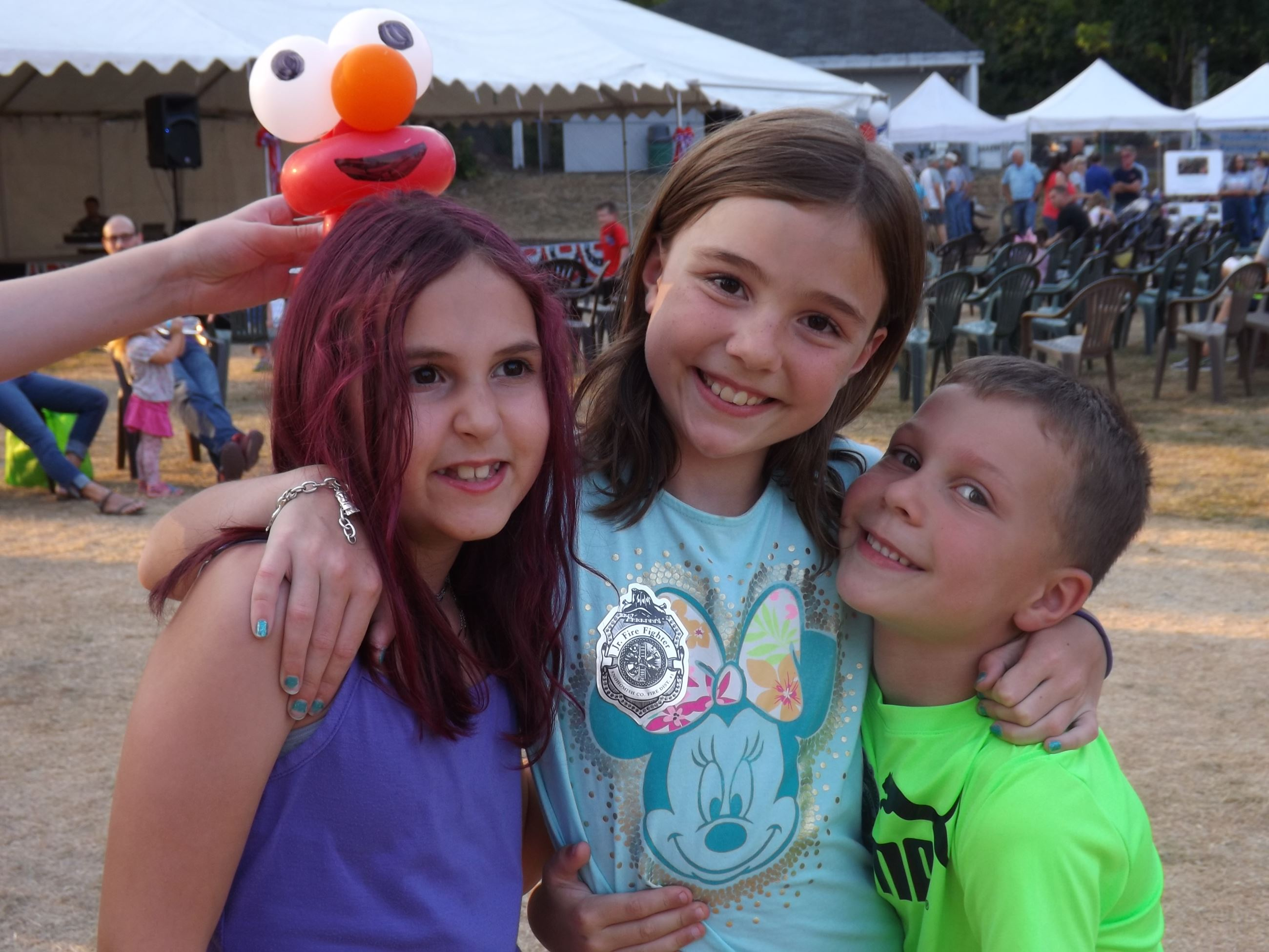 Kids at National Night Out Event