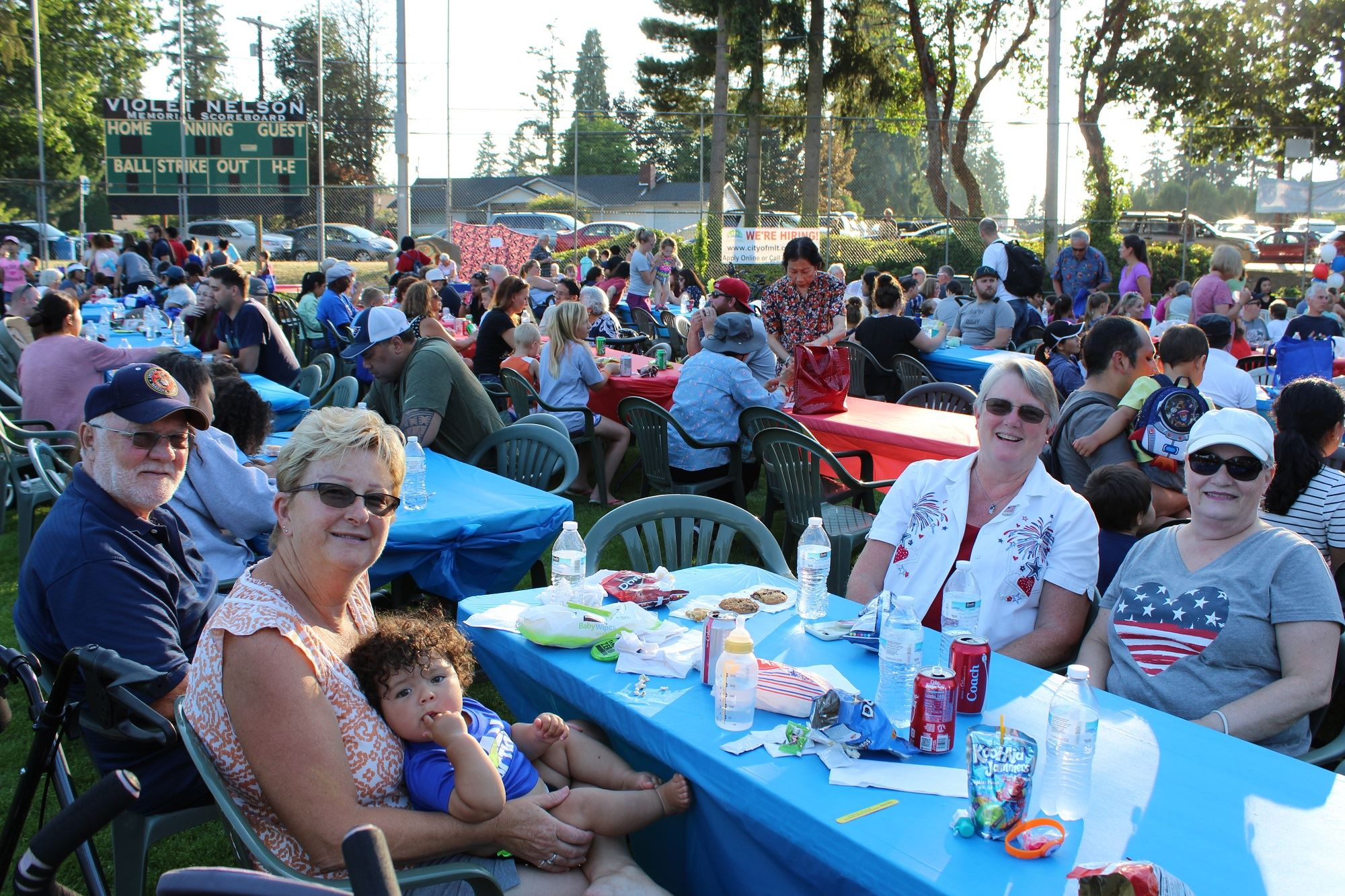 National Night Out Crowd Enjoying Food and Entertainment
