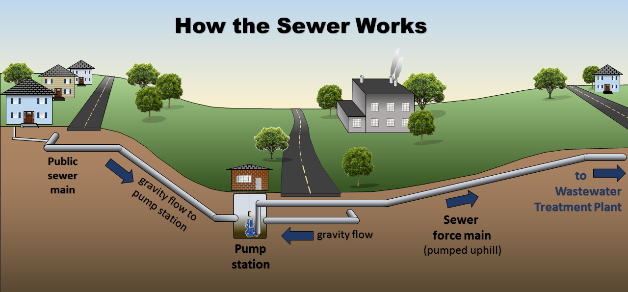 How the Sewer Works Graphic by Des Moines Water Reclamation Authority