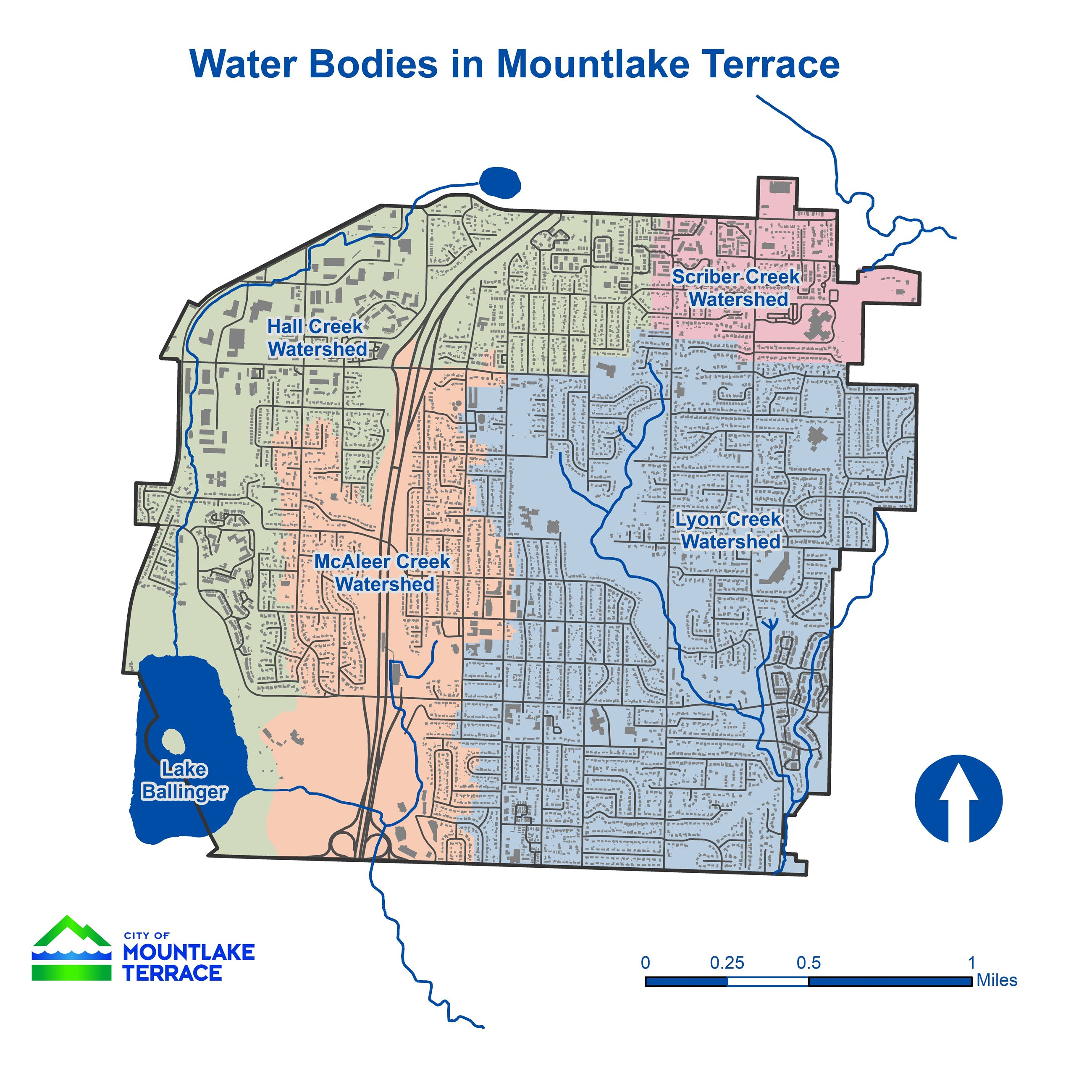 MLT Watershed Map with Lake Ballinger
