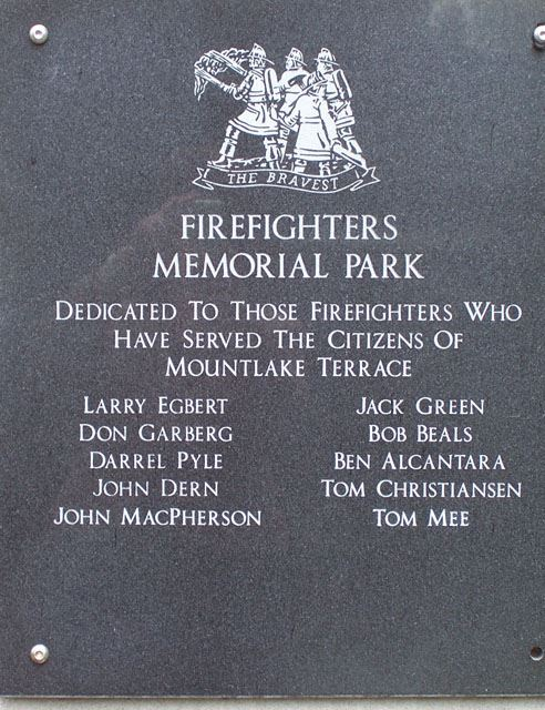 Firefighters Memorial Park Monument