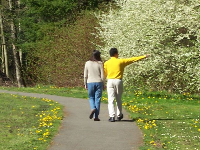 Terrace Creek Park - Couple Walking